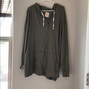 Plus size zip hoodie